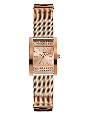 Guess Factory Women's Rose Gold-Tone Rectangular Watch, NS from GuessFactory