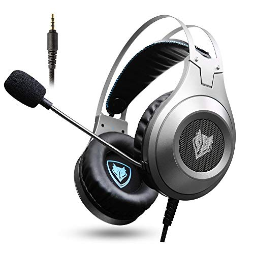 - Gaming Headset, NUBWO Wired Gaming Headphones with Microphone and Volume Control for PC/Ps4/Xbox one 1 /Phone/Laptop (Silver)