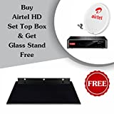 Airtel HD Recorder Set Top Box With 1 Month My Family Plus HD Pack And Premium Glass Stand