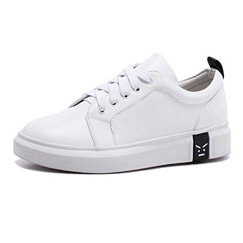KJJDE Zapatos con Plataforma Mujeres WSXY-A1713 Estilo Simple Al Aire Libre Antideslizante Zapatilla de Deporte Black