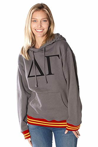 Merch Nerds Rush 101 Delta Gamma College Hoodie With Southern California Colored Trim - Greek Letter Sorority Hooded Sweatshirts (Southern Hoodie California)