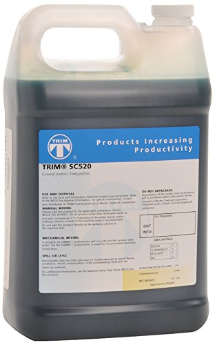 TRIM Cutting & Grinding Fluids SC520/1 General Purpose Semisynthetic Fluid Concentrate, 1 gal Jug (Metal Lubricant Cutting)