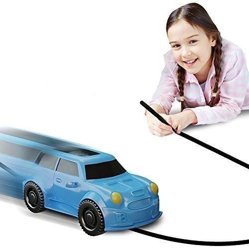 Magic Vehicles Inductive Truck [Follows Black Line] Magic Toy Car for Kids & Children - Best Toddler Toys MINI Magic Pen Inductive Fangle Kids Car Follow [Blue Car]