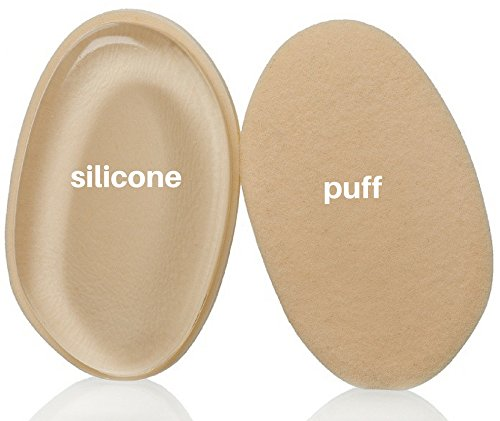 NEW! 2 In 1 Silicone Makeup Sponge Blender & Powder Puff Applicator | Soft, Flexible & Washable Surfaces | For Foundation, BB Creams, Serum, Blusher & More | Save Up (Soft Surface Washable)