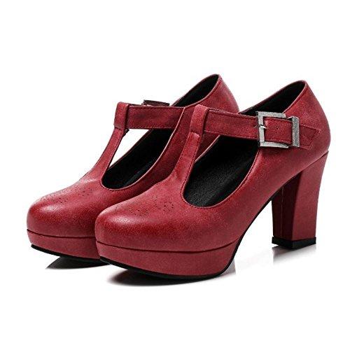 Pumps Heel Bar Block Rosso Donna Coolcept Fashion T tIOvzwq