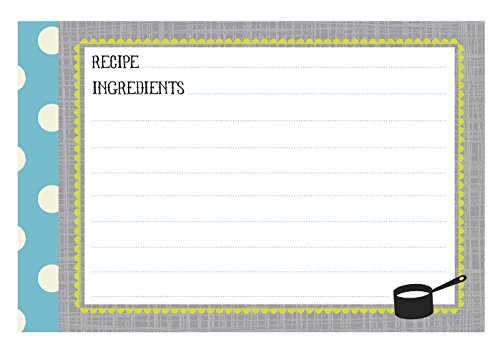C.R. Gibson 40 Count Recipe Cards, Lined Back To Front, C...