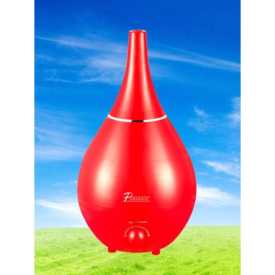 Pursonic HM290R Contemporary Cool Mist Ultrasonic Humidifier, Red