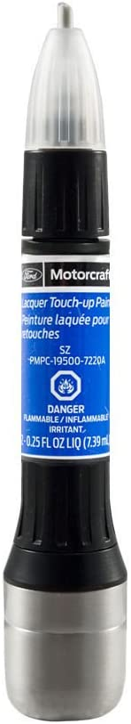 Ford Motorcraft PMPC-19500-7220A Touch Up Paint Bottle Blue Flame Metallic SZ & Clear Coat