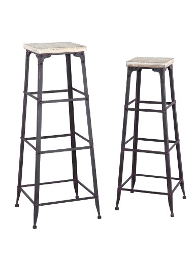 Powell Driftwood Large and Medium Plant Stands For Sale