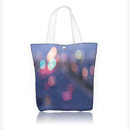 Canvas Tote Bags Blur background,night city Design Your Own Party Favor Pack Tote Canvas Bags by Big Mo's Toys W16.5xH14xD7 INCH -