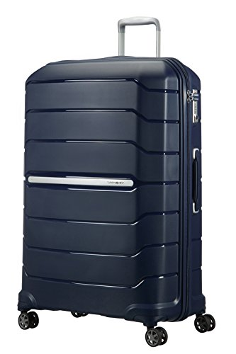 (SAMSONITE Flux - Spinner 81/30 Expandable Hand Luggage, 81 cm, 145 liters, Blue (Navy Blue))