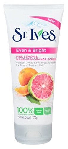 St. Ives Even and Bright Pink Lemon and Mandarin Orange Face Scrub 6oz - 1