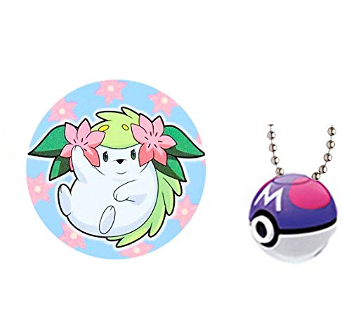 Pokemon Sun & Moon Poke Ball Master Ball Shaymin Gacha Capsule Light Projector Key Chain Mascot Vol.2 Collection Anime Art