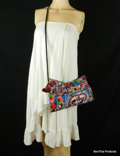 Tribe Ethnic Sling Multicolor Crossbody BTP Swingpack Hill HMONG HMSP3 Embroidered Bag Purse Shoulder qwCnxS1