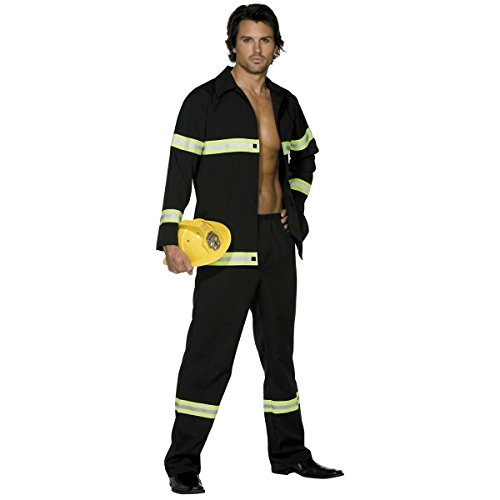 Fever Smiffys Men's Fireman Costume, Jacket and pants, Uniforms, Size M, 31693