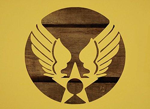 【紙製 ステンシル シート A4】 USAF USエアフォース 旧ロゴ 空軍 01