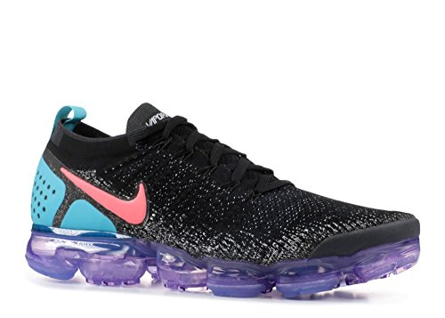 NIKE Men's Air Vapormax Flyknit 2, Black/Dusty Cactus/HOT Punch, 10 M US