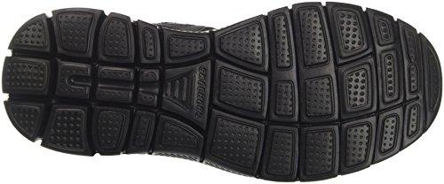 Nero Uomo Skechers Upwell con Cinturino 1 alla Black Sandali Flex 0 Caviglia Advantage 4vqvPO