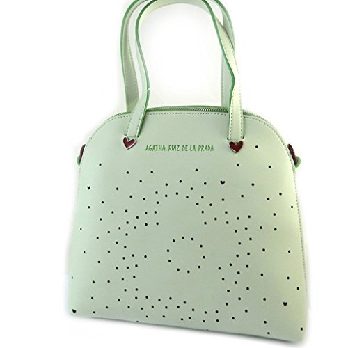 french touch' bolsa 'Agatha Ruiz De La Prada'agua verde - corazones perforados.