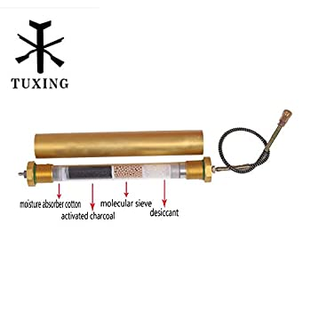 Image of Diving Seperator PCP air compressor 4500 Psi Oil Water Filter L350mmOD49mmID36mm Home Improvements