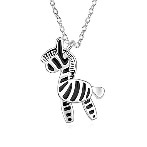 - QINJLI Female Zebra Pendant, Alloy Plated Real Gold Trojan Exquisite Jewelry 2715mm