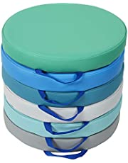 SoftScape™ 15 inch Round Floor Cushions with Handles for Flexible Seating Classrooms, 2 inch Thick Deluxe Foam (6-Piece) - Contemporary