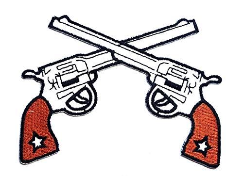 Gun Cowboy Shooting Cartoon Children Kid Patch Clothes Bag T-Shirt Jeans Biker Badge Applique Iron on/Sew On Patch