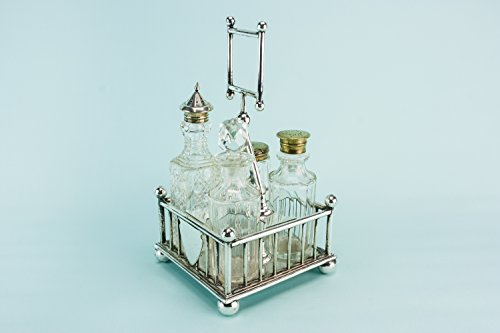Christopher Dresser Style Aesthetic Movement Silver Plated Condiment Set Atkin Brothers Medium RACK Late 19th Century English - Designer Outlet Online Uk