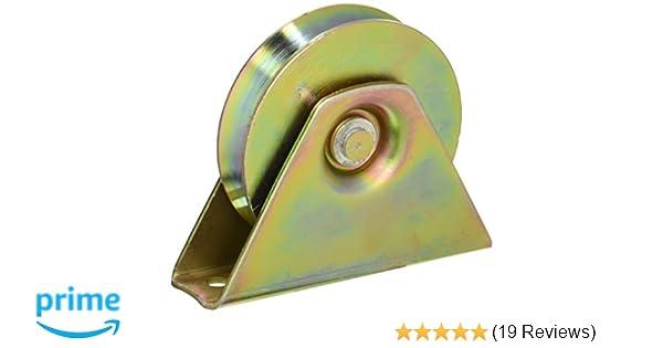 Amazon.com: ALEKO WHEEL4INCHVG V Groove Wheel for Sliding Rolling Slide Chain Gear Rack Gate Track 4 Inch Diameter Gold: Home Improvement