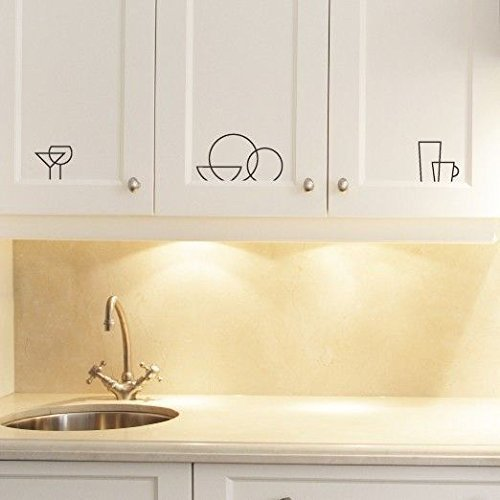 Kitchen Icon Logos Decal Vinyl Stickers Cabinet Cupboard Drawers Home Decor
