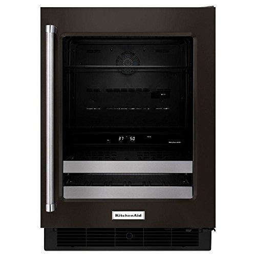 KitchenAid KUBR304EBS 24 Inch Black Stainless Steel Beverage - Kitchenaid Black Refrigerator