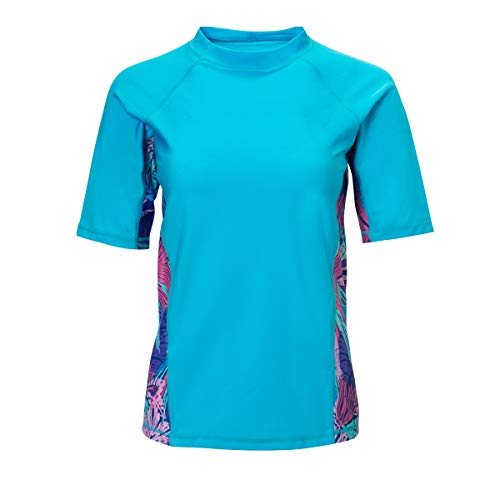 (UV SKINZ Short Sleeve Active Sun & Swim Shirt - Tropical Paradise -)