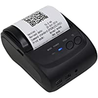 Shiningup Thermal Receipt Printer 58mm Impact Bluetooth/USB Wireless Mobile POS Receipt Printer for PC, Android, Iphone, Ipad Power by Rechargeable Battery