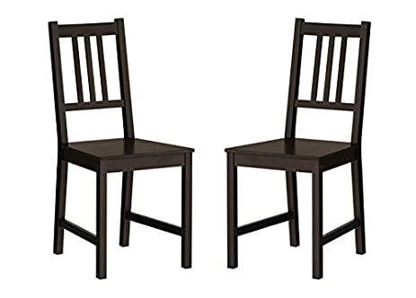 Amazon.com - Ikea Wood Chairs Dining Room Kitchen Dinette 2 Chairs ...