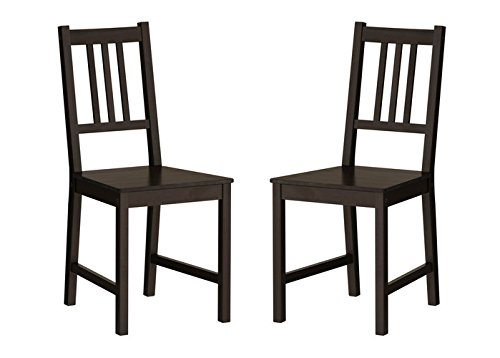 Ikea Wood Chairs Dining Room Kitchen Dinette 2 Chairs (Sets Room Furniture Ikea Dining)