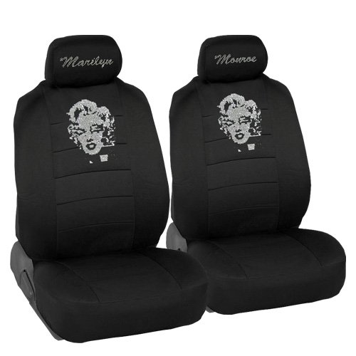 (Marilyn Monroe Crystal Diamond Bling Rhinestone Black Car SUV Truck Low Back Seat)