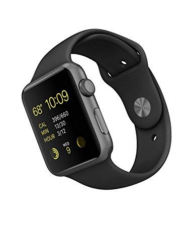 Apple 42mm Smart Watch — Space Grey Aluminum Case/Black Band