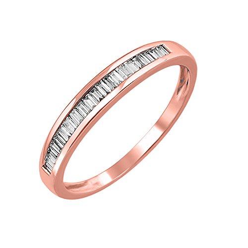 IGI Certified 14K Gold Baguette Diamond Channel Set Wedding Ring Band (1/4 carat)
