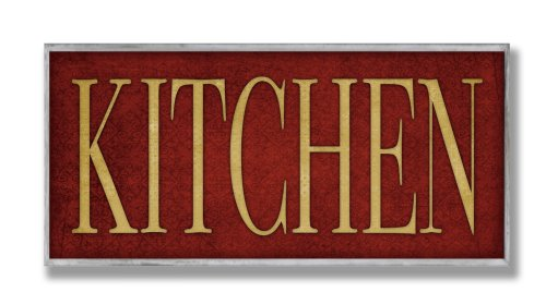 Stupell Home Décor Red Kitchen Wall Plaque, 7 x 0.5 x 17, Proudly Made in USA