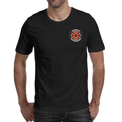 DXQIANG Vancouver Fire Department Design Men's Classic T Shirt Crew Neck Tee Tops -
