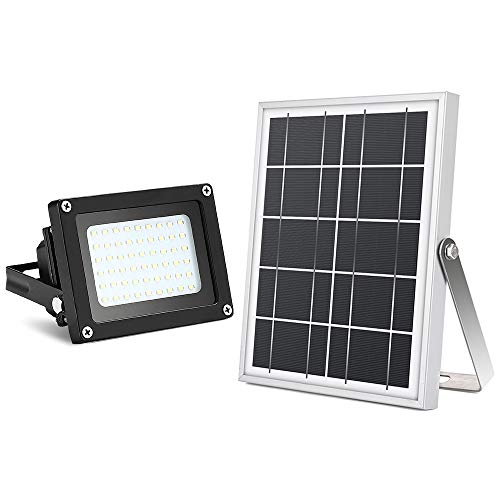 Solar Flood Lights Outdoor,Moresun Auto on Off 5W 54Leds Solar Powered Led Security Floodlight for Outdoor Yard, Garden, Patio, Business Sign,Driveway