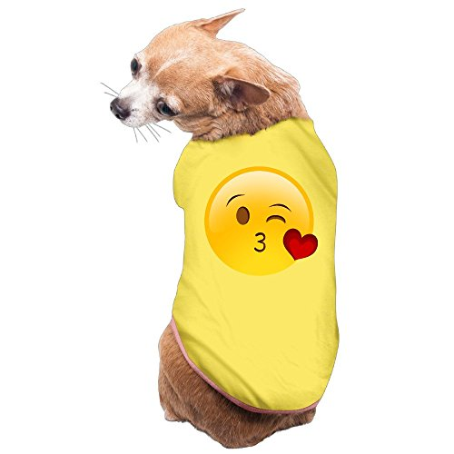 Costumes For Dogs Diy (Greenday Give You Kiss Emoji Fashion Dog Pets Costumes Size M Yellow)