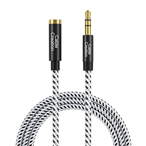 (3.5mm Audio Extension Cable, CableCreation 3.5mm Male to Female Stereo Audio Cable with Gold Plated Connector, 1.5Feet)