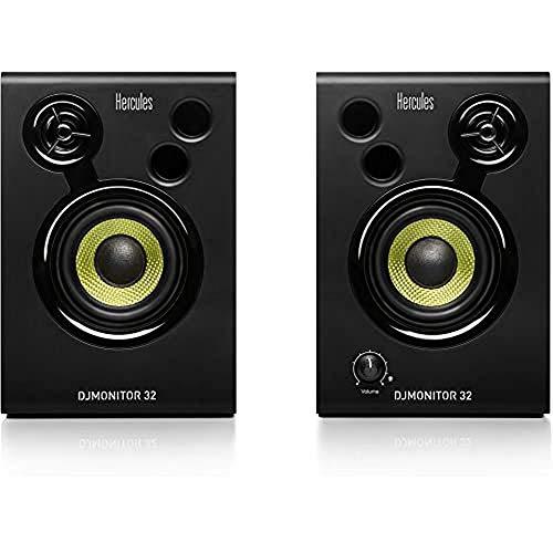 Hercules 4780885 DJMonitor 32: 2×15 watt RMS actieve monitorspeakers, Zwart