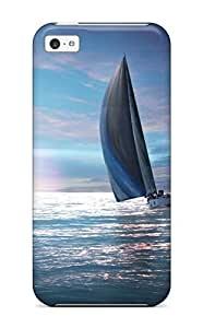TYHde ipod Touch4 Case Cover - Slim Fit Tpu Protector Shock Absorbent Case (sailing Boat) ending