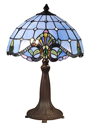 Dale Tiffany TT70110 Peacock Table Lamp, One Size, Antique Bronze