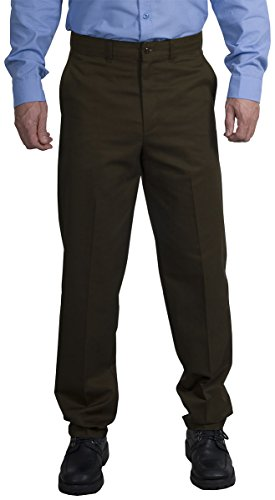 CornerStone Men's Durable Wicking Industrial Work Waistband Pant_Brown_34x37