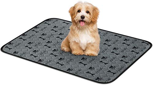 Aujelly Dog Pet Pad Washable,Pet Pee Pad Reusable,Super Absorbent and Removes Odor Non-Slip Pet Pee Pad for Training…