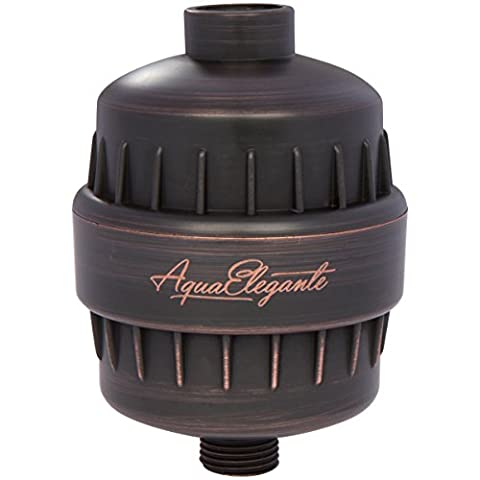 Aqua Elegante High Output Luxury Shower Filter - Best Chlorine Removing Filtration System & Cartridge - Oil-Rubbed Bronze