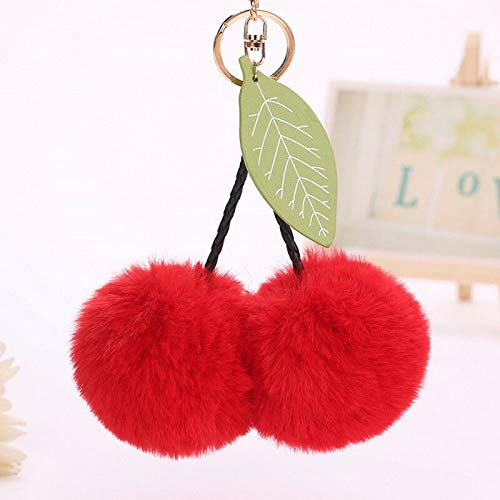 ur Ball Car Key Chain Ring Keyring Women Bag Pendant Decor (Color - Red) ()
